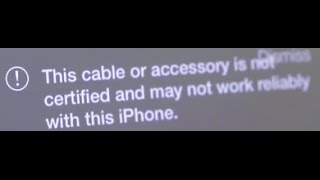 getlinkyoutube.com-The cable or accessory is not certified Apple iPhone iPad