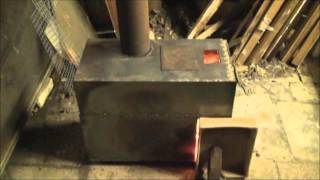 rocket stove with boiler  build and burn