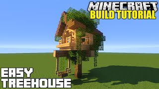 getlinkyoutube.com-Minecraft: How To Build A Treehouse Tutorial (Simple & Easy)