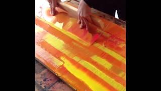 getlinkyoutube.com-Rakeltechnik, Marc Ballhaus Paintings, Squeegee