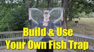 getlinkyoutube.com-Build a fish trap and catch catfish bait - four leaf clover fish trap for blue gill and bream