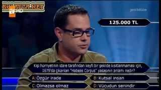 Kim milyoner olmak ister 232. bölüm 3. yarışmacı 05.06.2013