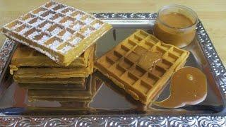 getlinkyoutube.com-Recette des gaufres au caramel - Recette de gaufre facile et délicieuse