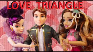 getlinkyoutube.com-Disney Descendants Dolls Love Triangle Mal & Audrey FIGHT OVER BEN, Frozen Anna captures his Heart?