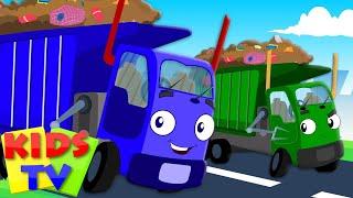 getlinkyoutube.com-Wheels On The Garbage Truck Go Round And Round   Nursery Rhymes   Kids Songs   Baby Rhymes