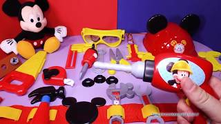 getlinkyoutube.com-MICKEY MOUSE CLUBHOUSE Disney Mickey Mouse Clubhouse  Mousekadoer Tool Kit Toys Video Unboxing