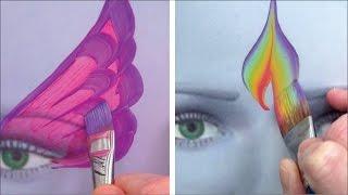 getlinkyoutube.com-5 Kinderschminken Pinsel für coole Striche und Effekte - Kinderschminken lernen TEIL 4