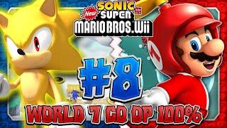 Sonic & Mario in New Super Mario Bros Wii - Co Op 100% - Part 8