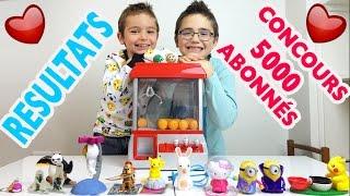 ♡ RESULTATS CONCOURS 5000 ABONNÉS avec une MACHINE A PINCE - Jouets & Surprises - Candy Grabber
