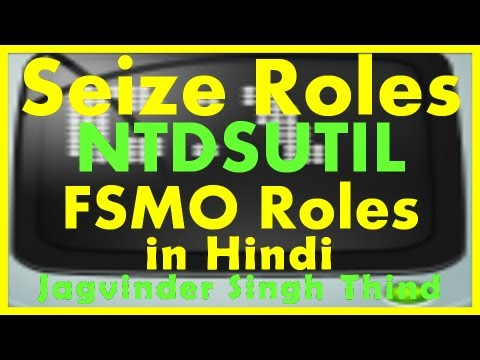 Active Directory Server 2008 Part 32 FSMO Roles 14 Seize Using NTDSUTIL in Hindi  by JagvinderThind