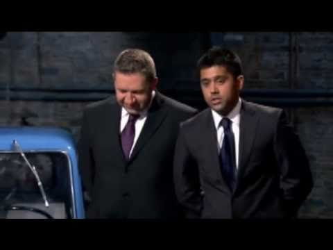 Peel P50 Worlds Smallest Car on Dragons Den - Faizal Khan and Gary Hillman