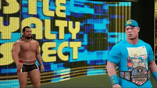 getlinkyoutube.com-WWE 2K16 (PS4): John Cena vs Rusev Falls Count Anywhere Match Gameplay