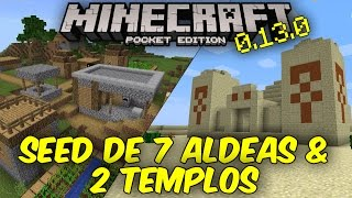 SEED ÉPICA DE 7 ALDEAS & 2 TEMPLOS | MINECRAFT PE 0.15.0