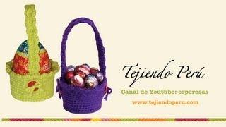 getlinkyoutube.com-Canastas para huevos de Pascua tejidas en crochet (amigurumi)