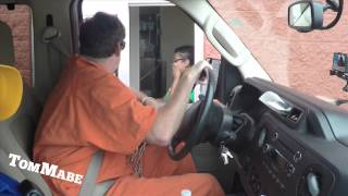 getlinkyoutube.com-Prisoner Drive Thru Prank! - Tom Mabe Pranks