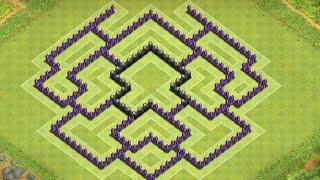 getlinkyoutube.com-Clash Of Clans -Anti Air Town Hall 8 Farming base ( Best Th8 Farming base ) !