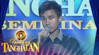 getlinkyoutube.com-Tawag ng Tanghalan: Carlmalone Montecido | Basta't Kasama Kita (Round 3 Semifinals)