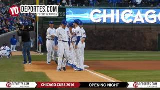 Chicago Cubs Opening Night Ceremony