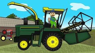 getlinkyoutube.com-☻ Rolnik | Farmer Works - Maize | Bajki Traktory ☻