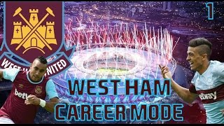 WEST HAM UNITED CAREER #1 - LETS DO THIS - FIFA 16 CAREER MODE
