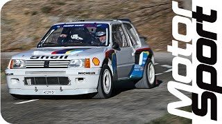 getlinkyoutube.com-Legendary Peugeot 205 T16 EVO1 test on closed road