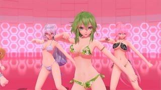 getlinkyoutube.com-【MMD】ボカロ達がビキニ祭りで「被害妄想携帯女子(笑)」 4K