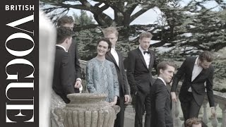 getlinkyoutube.com-On Set with the Cast of the Riot Club: The Posh Test | All Access Vogue | British Vogue