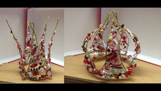 getlinkyoutube.com-Коронка для девочек на Новый год. Crown out of beads. DIY