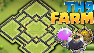 getlinkyoutube.com-Clash of Clans - GOTTA PROTECT YO' LOOT! TH9 Farming Base NEW