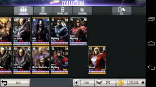 getlinkyoutube.com-Injustice Gods Among Us level 99 all cards & gears