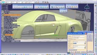 getlinkyoutube.com-Catia FreeStyle(프리스타일) 3D Curve를 활용한 Audi R8 자동차 모델링 10강
