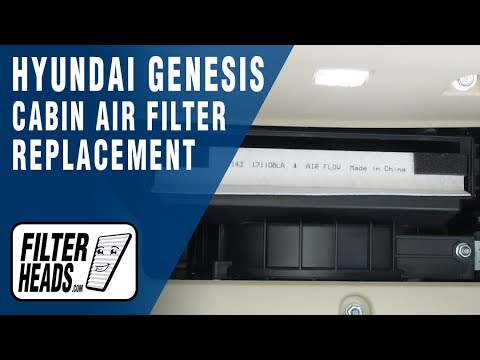 How to Replace Cabin Air Filter 2015 Hyundai Genesis