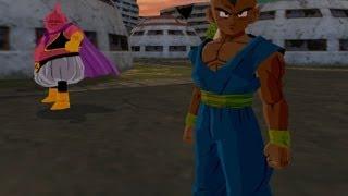 getlinkyoutube.com-Uub and Majin Buu Fusion into Majuub VS Baby Vegeta (DBZ Budokai Tenkaichi 3 Fusion mod)