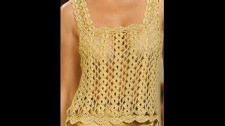 getlinkyoutube.com-Como Tejer Cadenas Para  Blusa Dorada a Crochet Paso 1