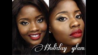 Holiday glam using one makeup brand | House of Tara | MakeupbyChonae