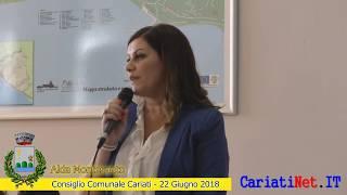 ALDA MONTESANTO - Consiglio Comunale Cariati 22 giugno 2018