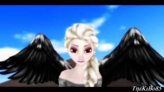 MMD - Vampire Elsa - Wings