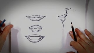 getlinkyoutube.com-How to Draw Lips | Drawing Tips