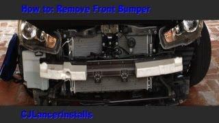 getlinkyoutube.com-CJ Lancer - How To: Remove Front Bumper