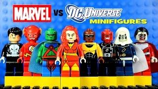 getlinkyoutube.com-LEGO Marvel vs DC Superheroes KnockOff Minifigures Set 8 w/ Dark Phoenix Luke Cage & The Flash