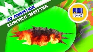 getlinkyoutube.com-Green Screen Surface Shatter Fire Smoke Giant Snake - Footage PixelBoom