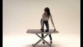 getlinkyoutube.com-Tavolino trasformabile Magic by OZZIO DESIGN - transformable table, made in italy