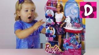 getlinkyoutube.com-✿ Кукла БАРБИ Зоосалон Собачка Меняет Цвет Color Me Cute Barbie Color Change Puppy Salon unboxing