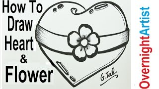 Valentines 2017 New Draw Heart Easy Design Draw A Heart Drawing