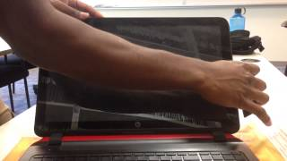 getlinkyoutube.com-Laptop screen replacement / How to replace laptop screen [HP-Compaq PAVILION 15-P030NR]