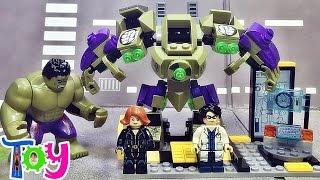 getlinkyoutube.com-sy 헐크 브루스 배너 박사 슈트 머신 레고 짝퉁 조립 리뷰 Lego knockoff Hulk suit mini HulkBuster