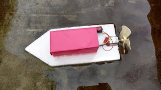 getlinkyoutube.com-How to Make a Homemade Toy Motor Boat: Simple & Easy