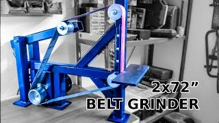 "getlinkyoutube.com-Awesome DIY 2x72"" Belt Grinder"