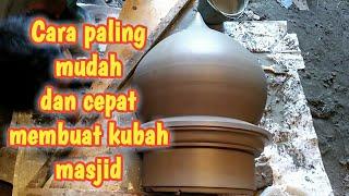 Cara membuat kubah masjid berdiameter 50cm