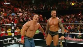 getlinkyoutube.com-WWE BEST MOMENT!-2 RKOs+STF+SPEAR+2 Champions Celeberating!!!-must watch!-HD